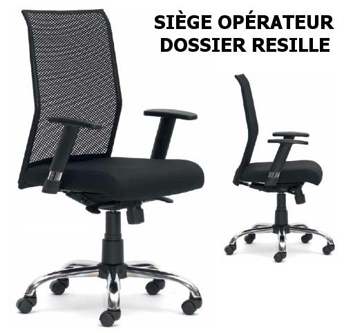 Siège Opérateur - Dossier Résille